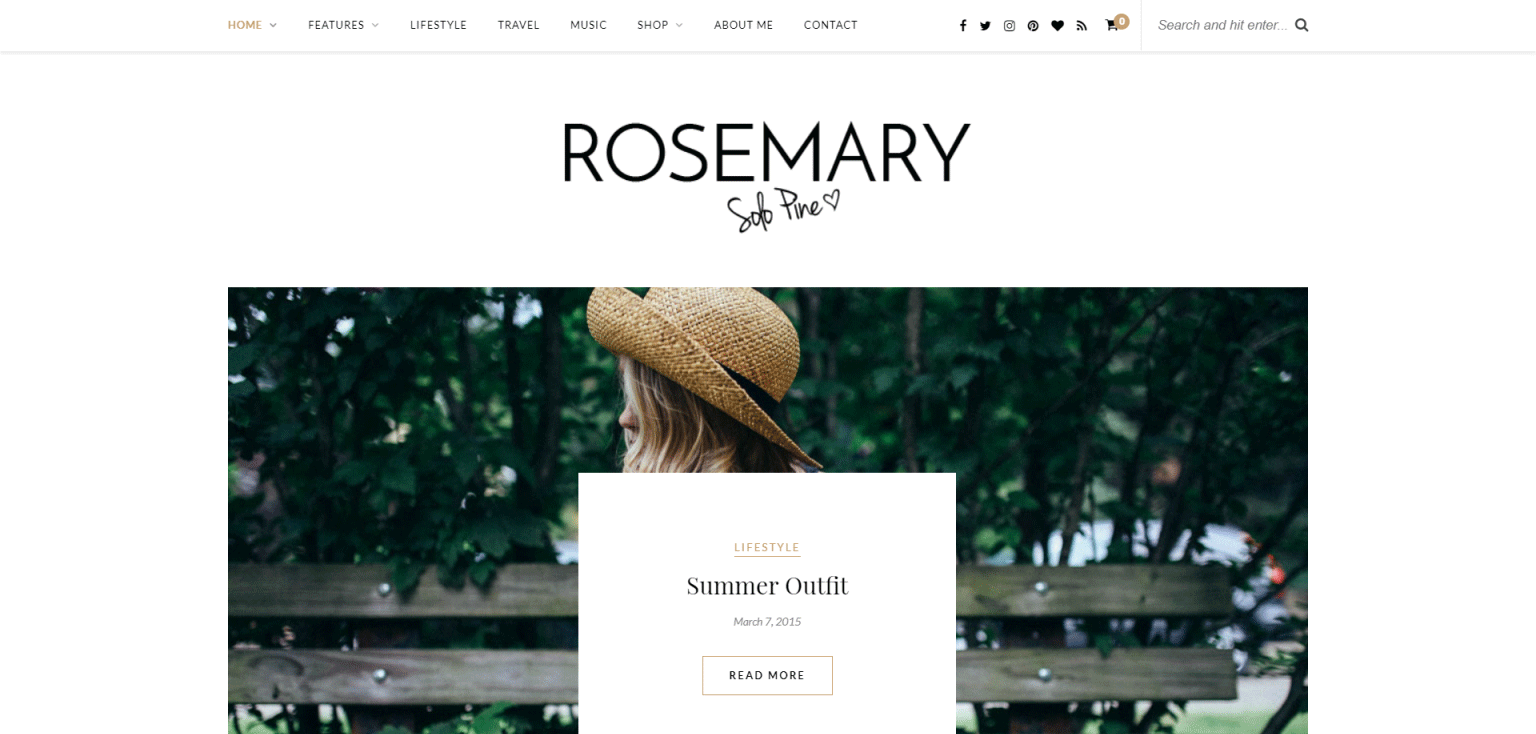 Rosemary Theme