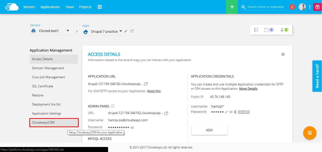 CDN tab Drupal