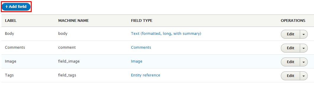 drupal article add fields