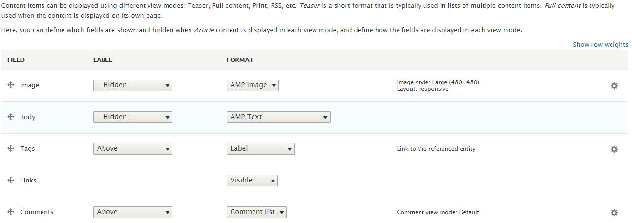 amp field formatter
