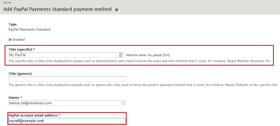 paypal details