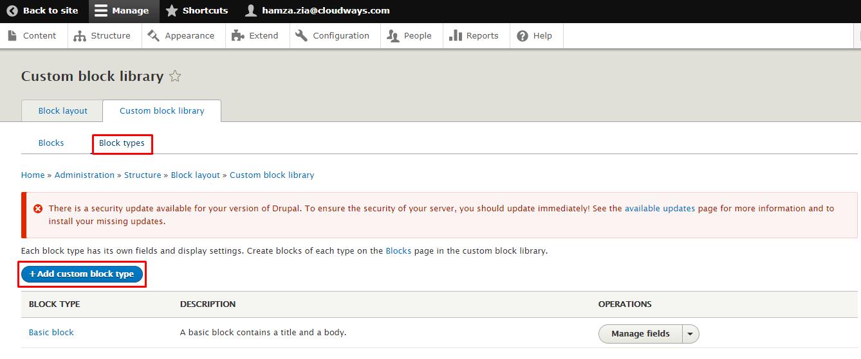 Drupal custom block library