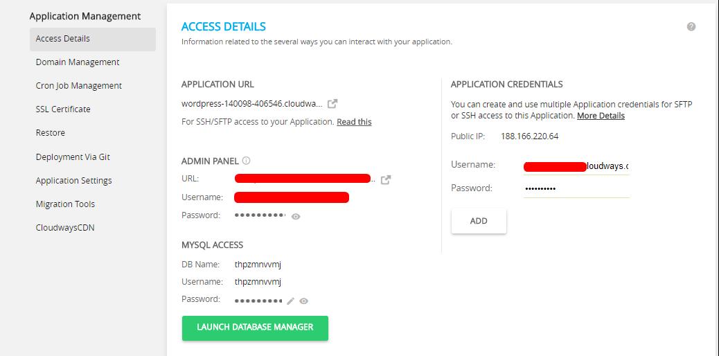 App credentials