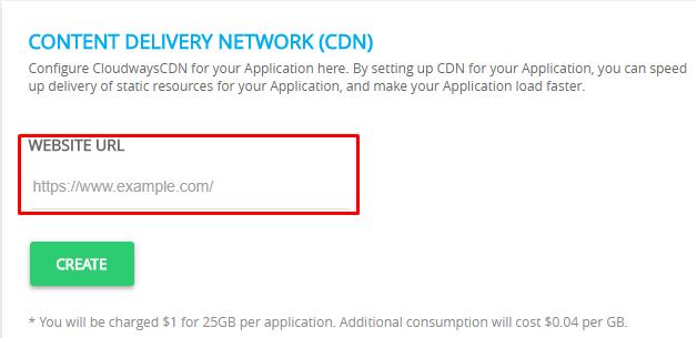 Website URL CDN Cloudways