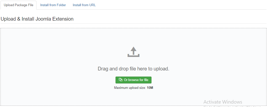 Upload Joomla Module