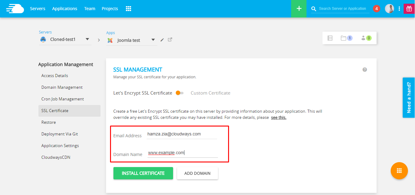 Learn to install ssl on joomla site using few easy step once youre in the ssl certificate screen you can add ssl by entering your email and the domain for which you want ssl to be enabled 1betcityfo Image collections