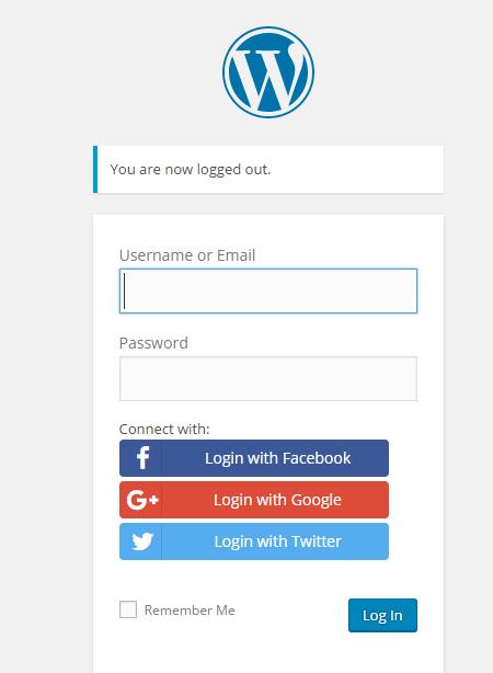 Social Login in WordPress