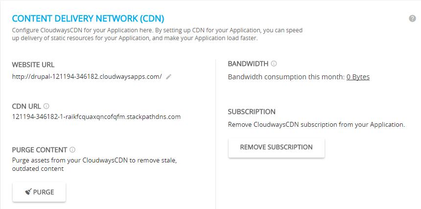 Cloudways CDN Details