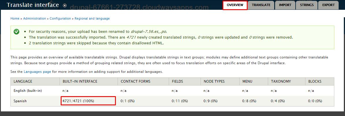 Translate Interface