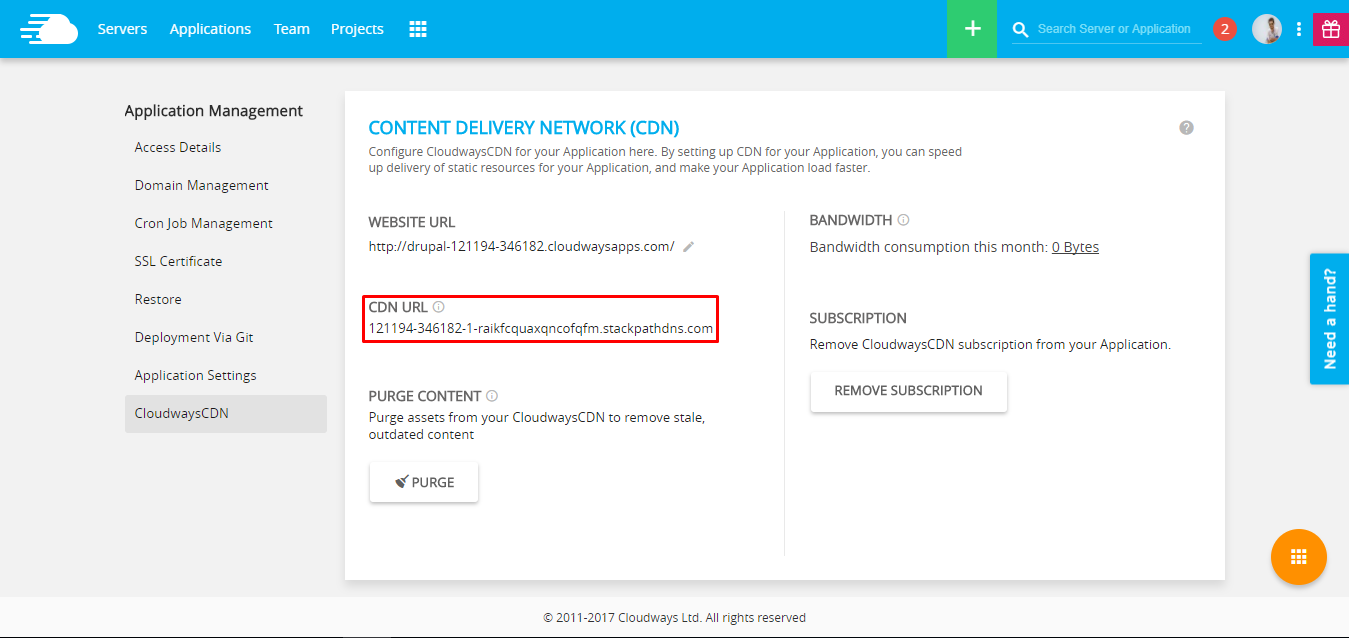 CDN URL