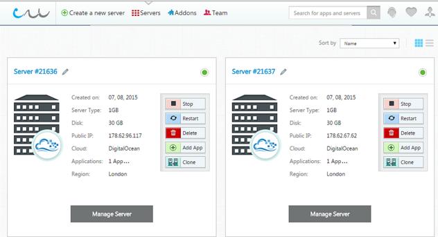 Cloudways Console Admin Panel