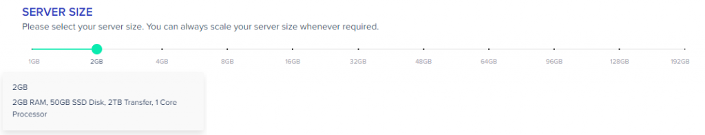 Select Server Specifications