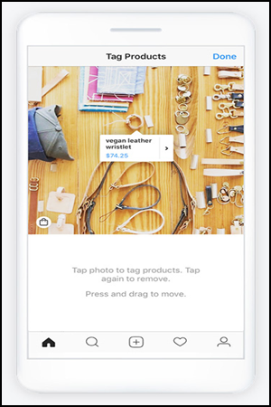 Sell on Instagram Tag Product Example
