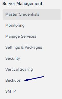 Server Management Backups