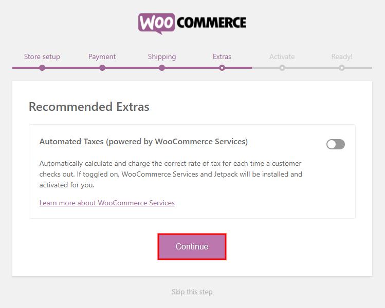 Setup WooCommerce Store Extras