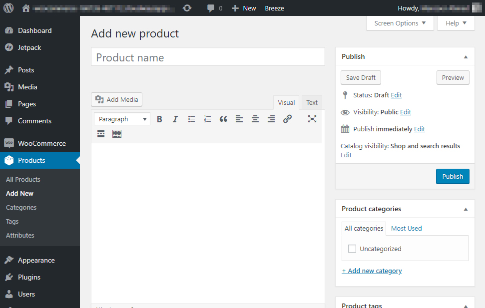 Setup WooCommerce Store Product Page Editor