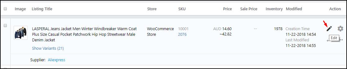 ShopMaster - Edit multiple products
