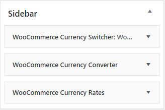 Sidebar Currency Switcher