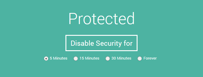 Simple on-off control for security