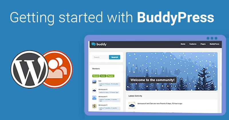 Social-WebSite-With-BuddyPress
