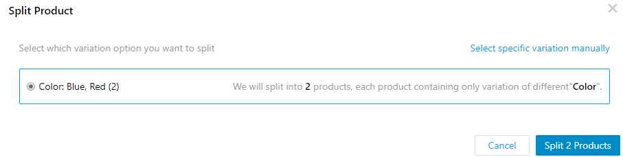 Split Products