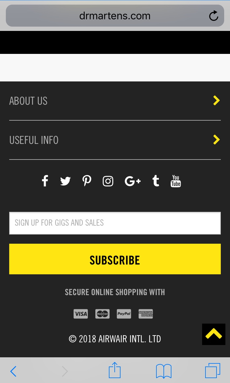 Subscribe box Airwair
