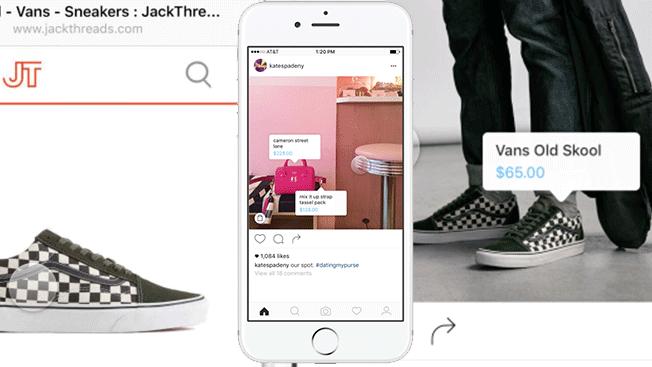 Marquage des produits dans le commerce électronique Instagram