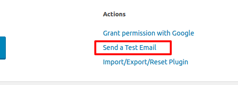Test Email Post SMTP WordPress