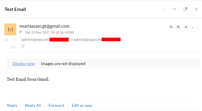 Testing Email from Gmail