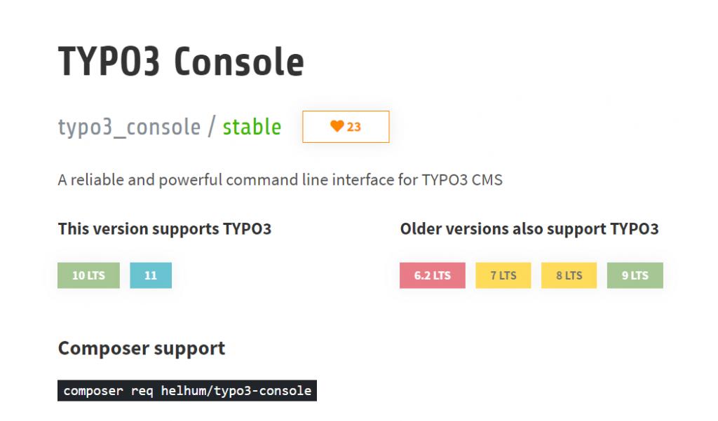 Typo3 Console