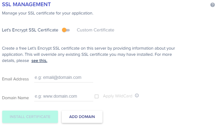 Under Magento SSL Certificate