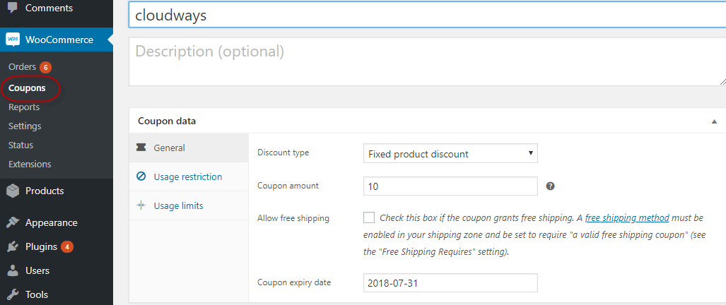 Update WooCommerce Coupon Information