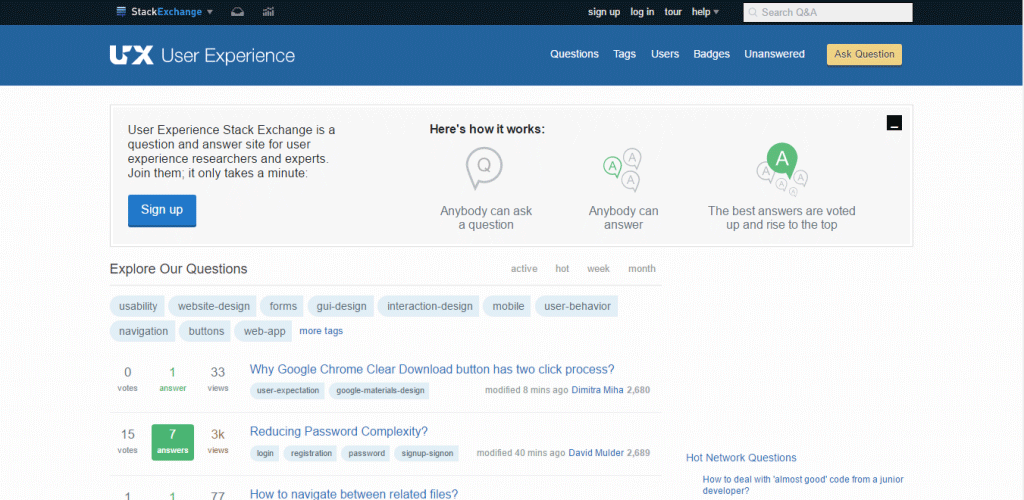 User Experience Stack Exchange Community