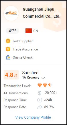 Verified Supplier Rating - Alibaba