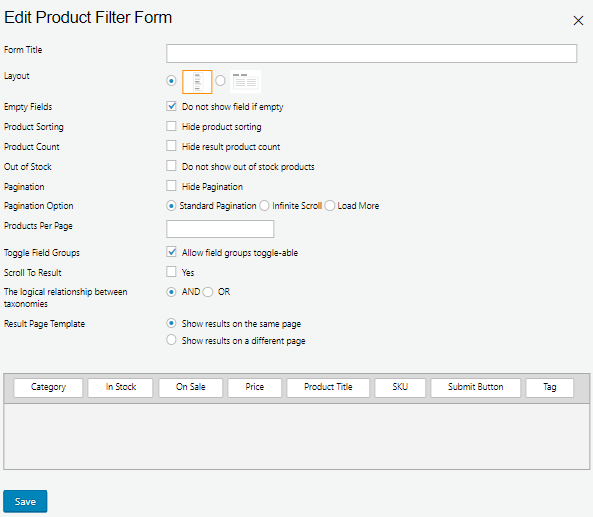 WC Product Filter Form