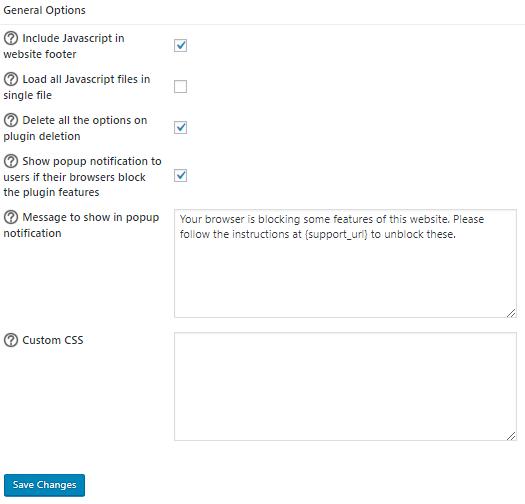 General Options - WooCommerce social login