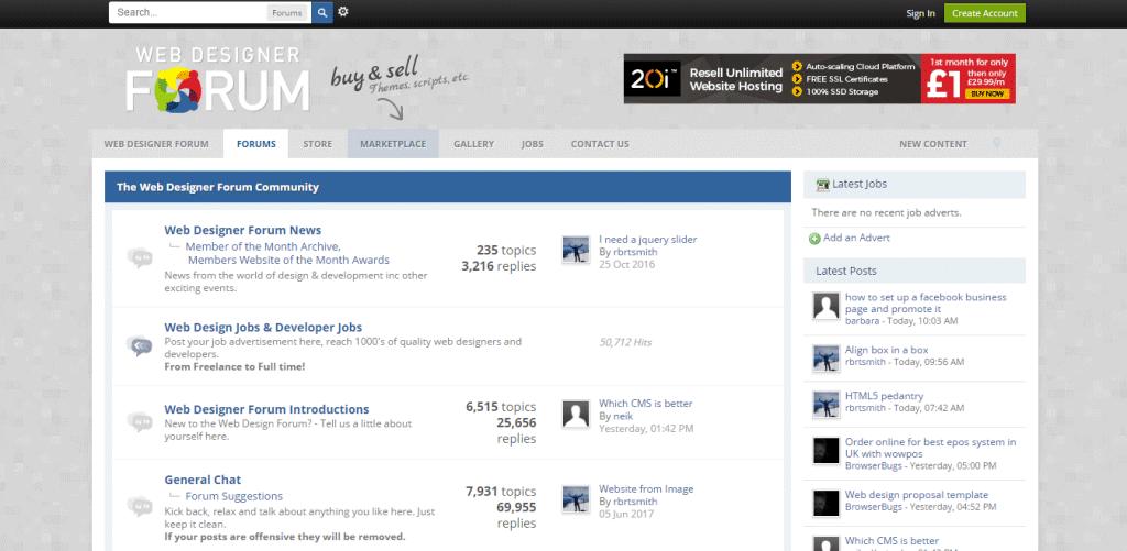 Web Design Forum Community