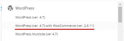 Select WordPress with WooCommerce