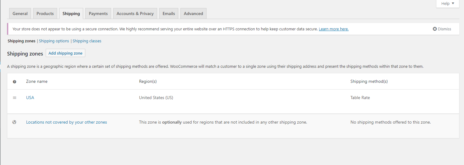 WooCommerce Table Rate Shipping by JEM