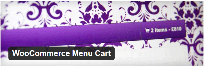 WooCommerce plugins - menu cart