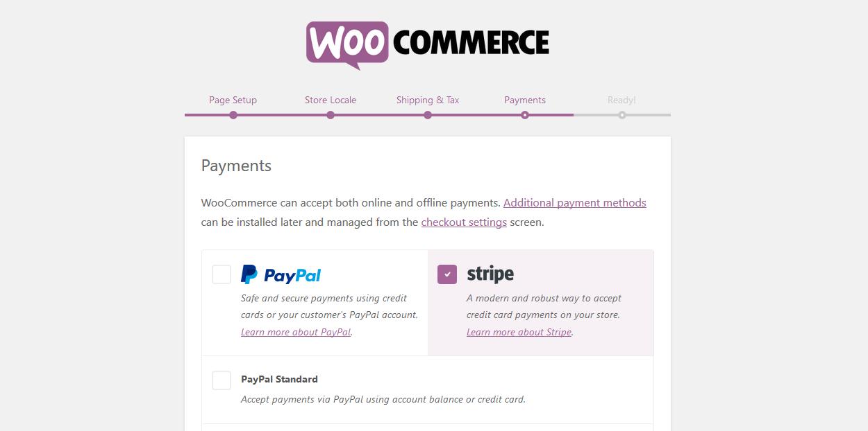 WooCommerce plugins - stripe