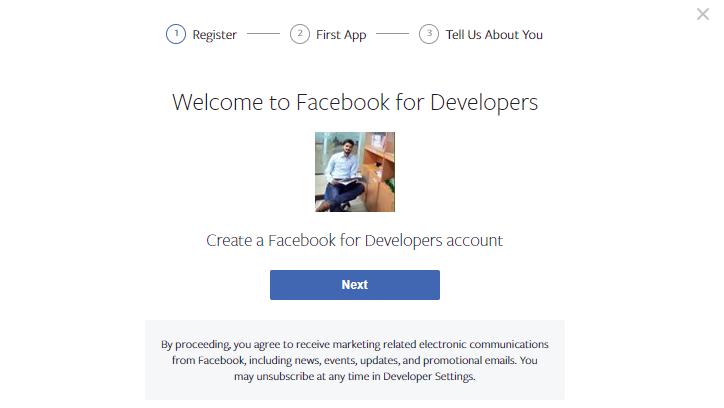 registration process - social login