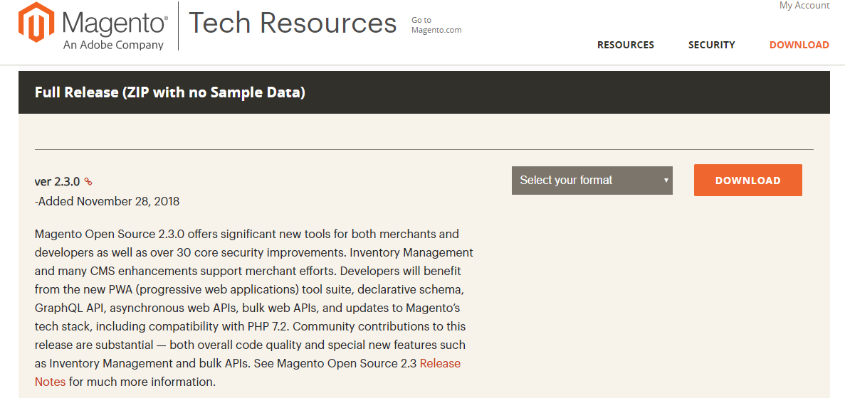 Magento Open Source 2.3.0