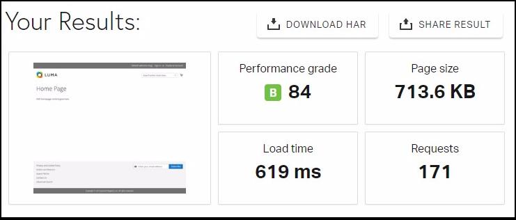 Test Result Magento 2.2.6