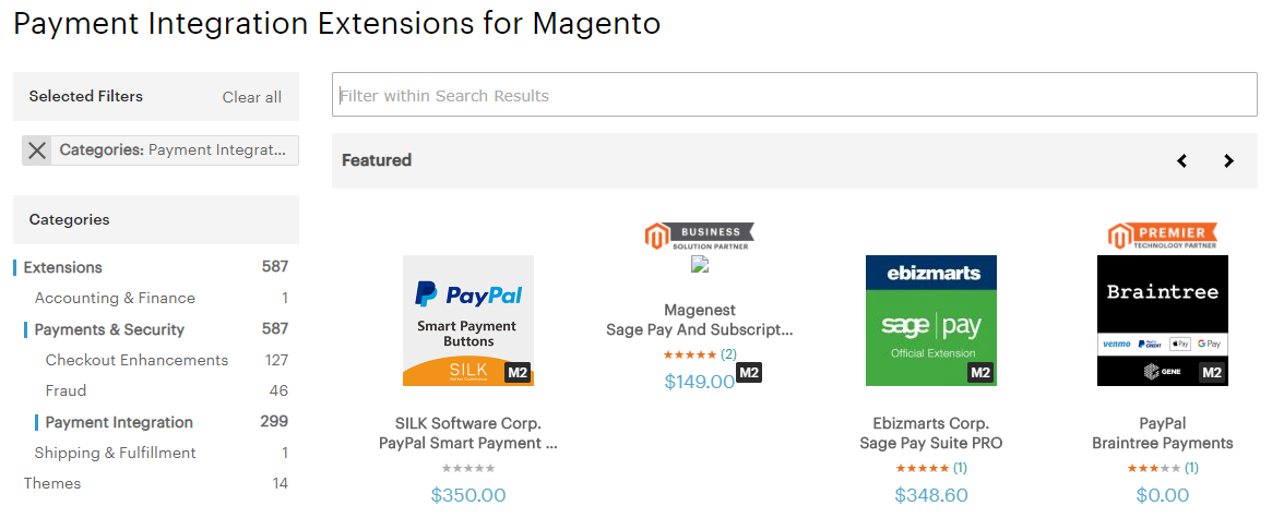 Payment Intergration Extensions for Magento