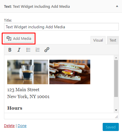 WordPress 4.9 Add Media in Text Widgets