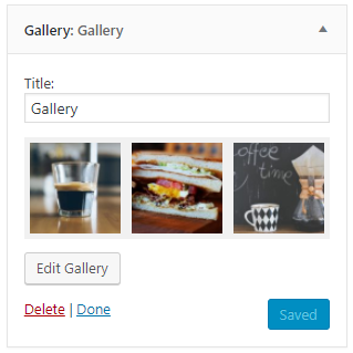 WordPress 4.9 Gallery Widget