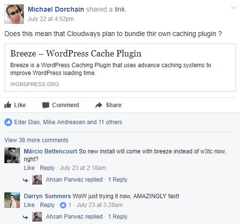 WordPress Cache Plugin Breeze