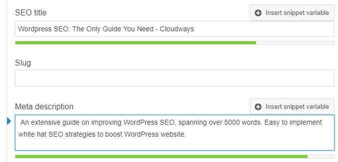 WordPress SEO Title Description