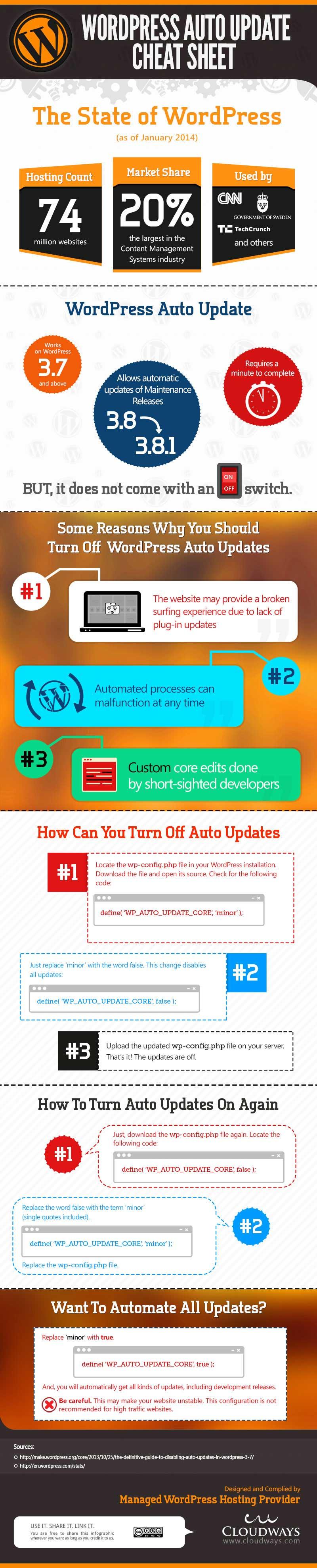 WordPress Auto Update Cheat Sheet